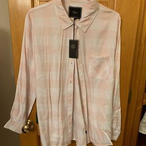 Pink and White Rails Button Down!